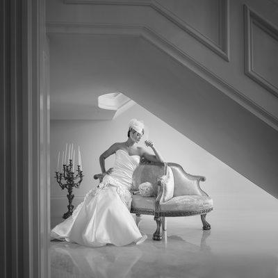 Gorgeous Classic Bridal Portrait In DFW Mansion