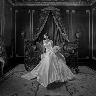Bridal Portrait In Lavish French Inspired Setting