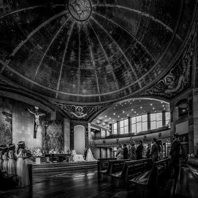 St. John Neumann Catholic Wedding Ceremony Austin, TX