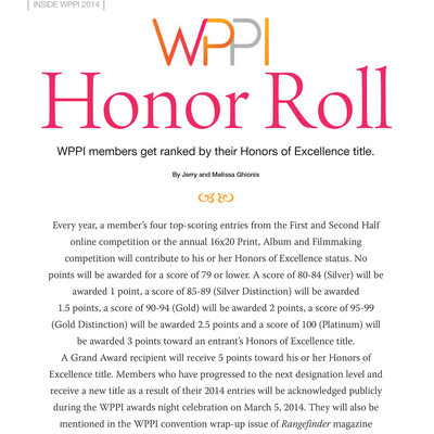Top Photographers In WPPI Honor Roll Rangefinder Ranks