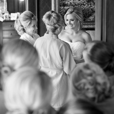 Bridesmaids Look On At Louisiana Plantation Wedding