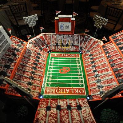 Custom Wedding Cake Looks LIke Oklahoma Stadium