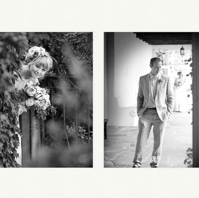 First Look For Bride & Groom At Los Poblanos Weding