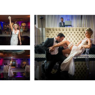 Garter & Bouquet Toss At ZaZa Dallas Reception