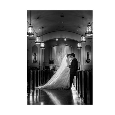 Bride & Groom After Wedding At Holy Trinity In Dallas