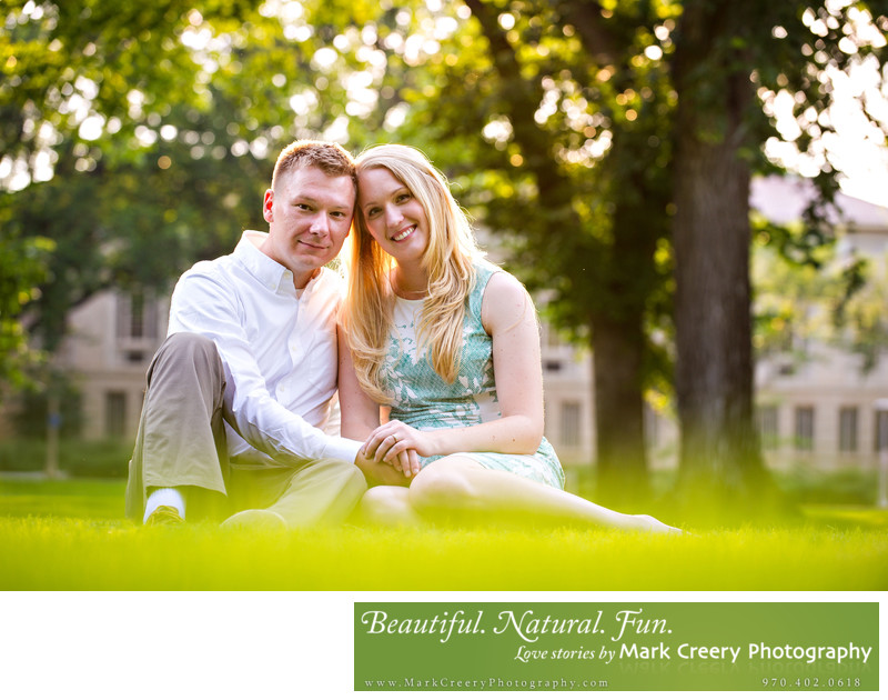 CSU Oval engagement photography