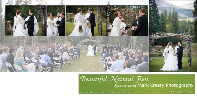 Wedding ceremony at Breckenridge Nordic Center
