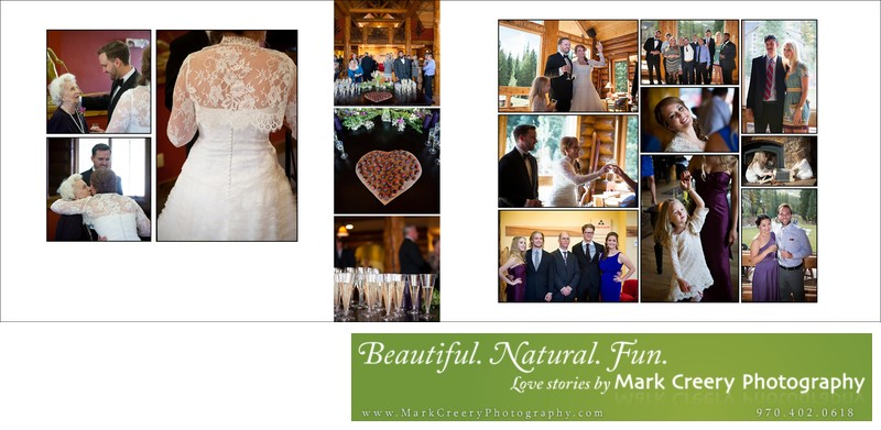 wedding reception at Breckenridge Nordic Center