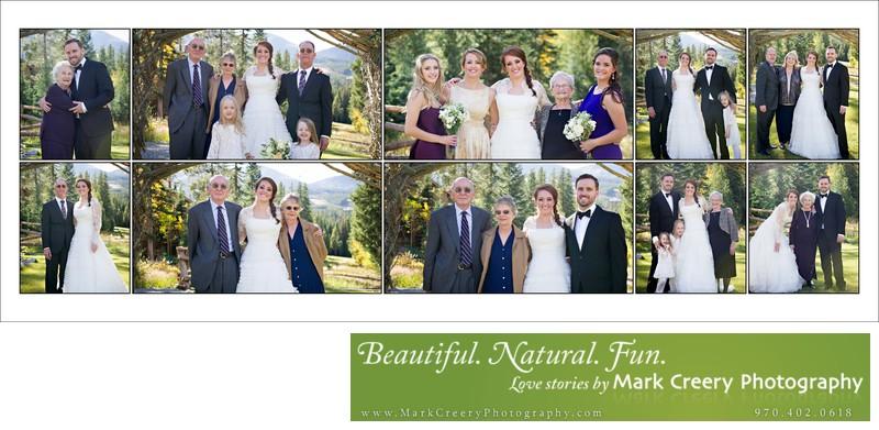 Family portraits at Breckenridge Nordic Center wedding