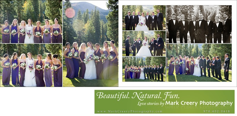 Bridal party at Breckenridge Nordic Center wedding