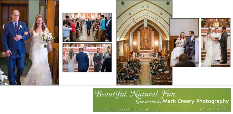Saint Joseph's Catholic Church wedding ceremony