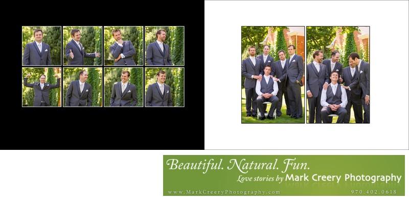 Groomsmen doing Godfather at Fort Collins backyard wedding