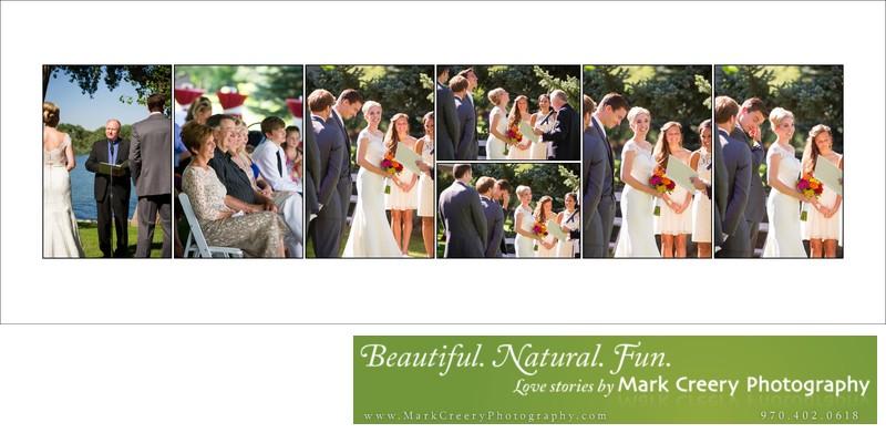 Backyard wedding ceremony near Fort Collins Country Club