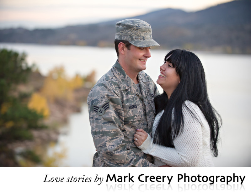 Air Force engagement photos in Colorado