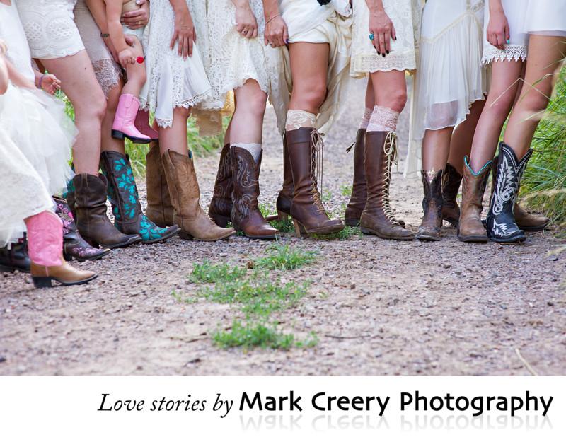 Antique bohemian chic themed wedding in Colorado