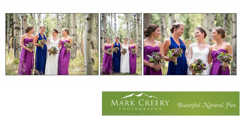 Bridesmaids & Bride having fun at Perry Mansfield wedding