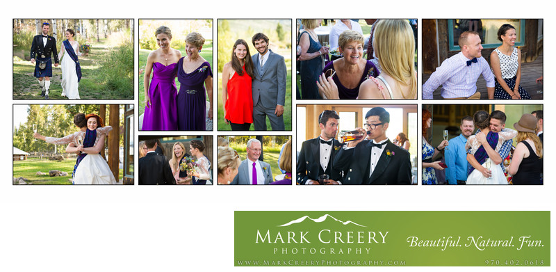 Scottish garden party at Perry Mansfield wedding in Steamboat