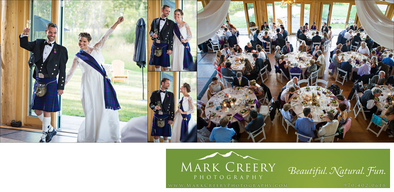 Bride & Groom's reception grand entrance at Perry Mansfield