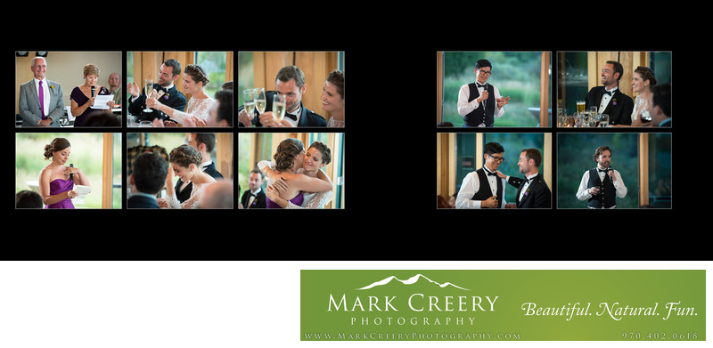 Reception toasts at Steamboat Springs wedding