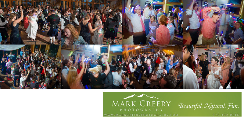 Dance party reception pics at Perry Mansfield wedding