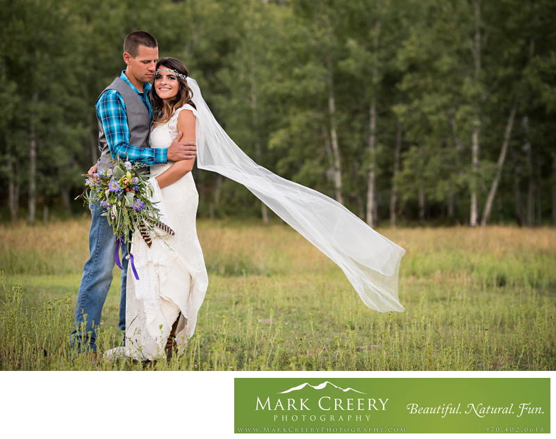 Evergreen Colorado wedding photography
