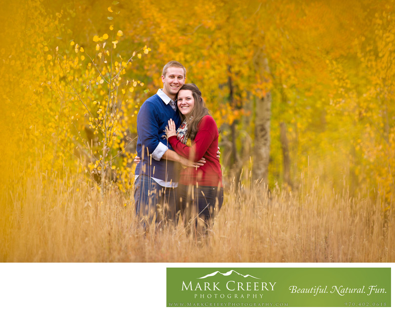 Fall engagement portrait Estes Park Colorado
