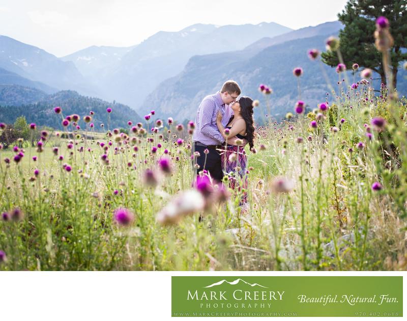 Engagement photographer in Estes Park Colorado