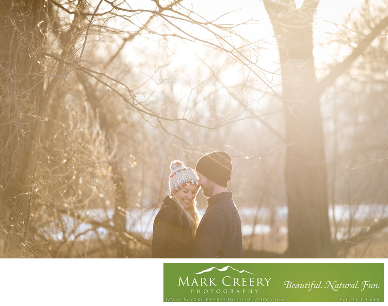 Winter engagement photos in Fort Collins