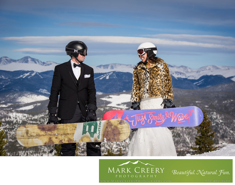 Breckenridge Ski Resort wedding photo Colorado