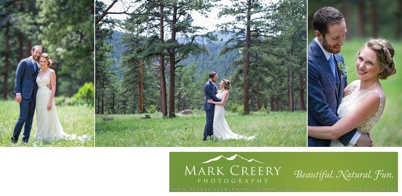 Bride and groom portraits in the trees Della Terra