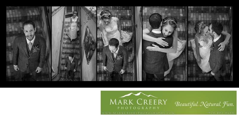 First Look photos Della Terra wedding