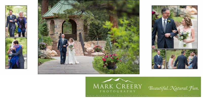 Ceremony processional from gazebo Della Terra wedding