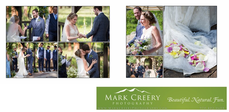 Ceremony vows, rings and First Kiss Della Terra wedding