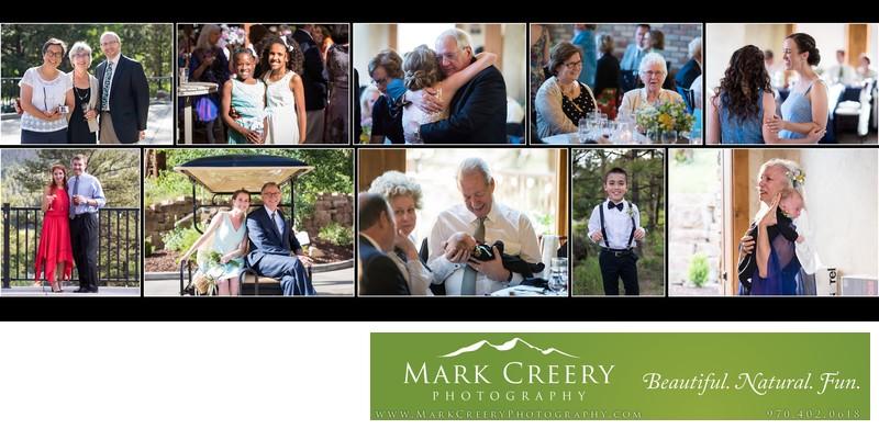 Reception candid photos Della Terra wedding