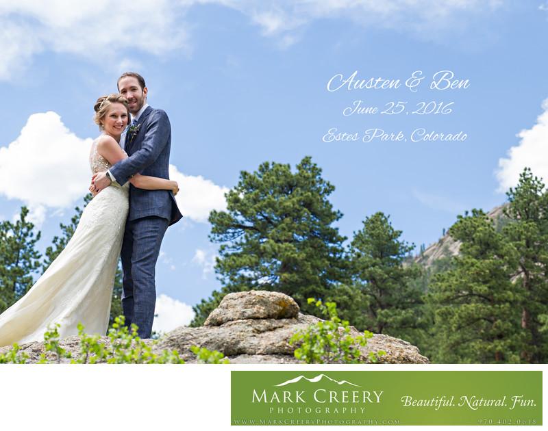 Bride and groom portrait Della Terra wedding
