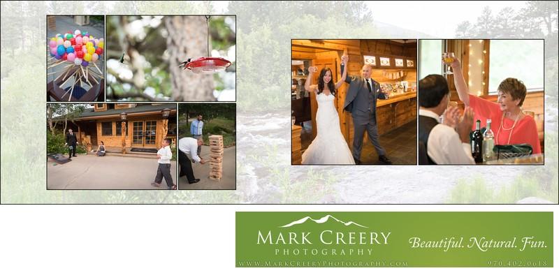 Wedding reception games & hummingbirds at Wild Basin Lodge