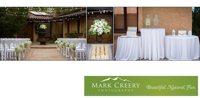 Wedding ceremony details Villa Parker