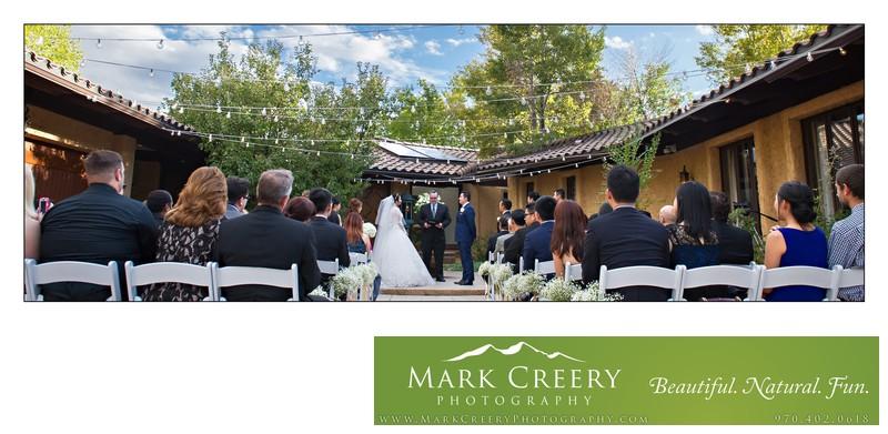 Wedding ceremony panorama Villa Parker