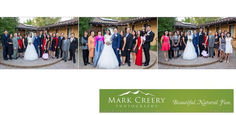 Family photos Villa Parker wedding