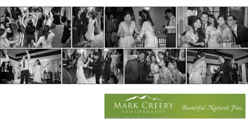 Reception dancing Villa Parker wedding