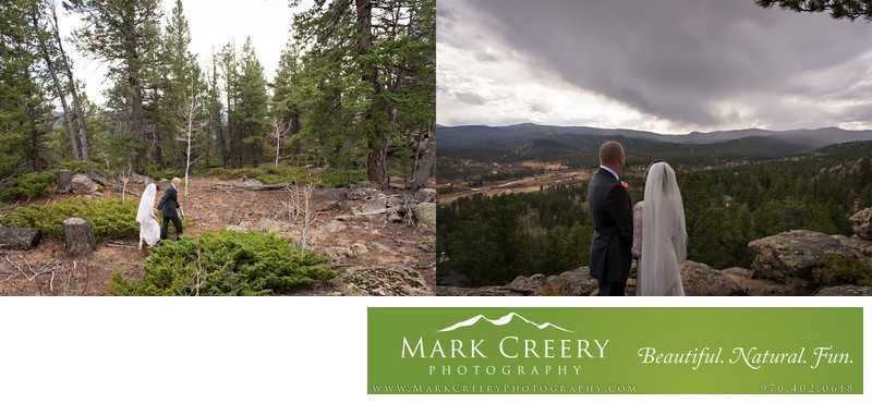 Bride & Groom photos at Beaver Meadows Resort Ranch