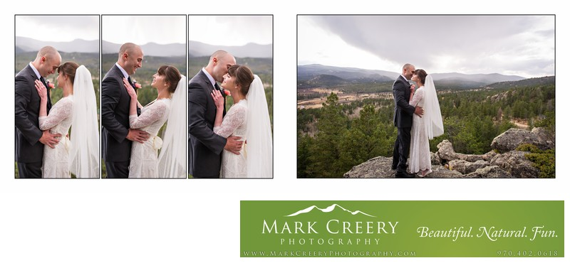 Romantic couple moment at Beaver Meadows Resort wedding