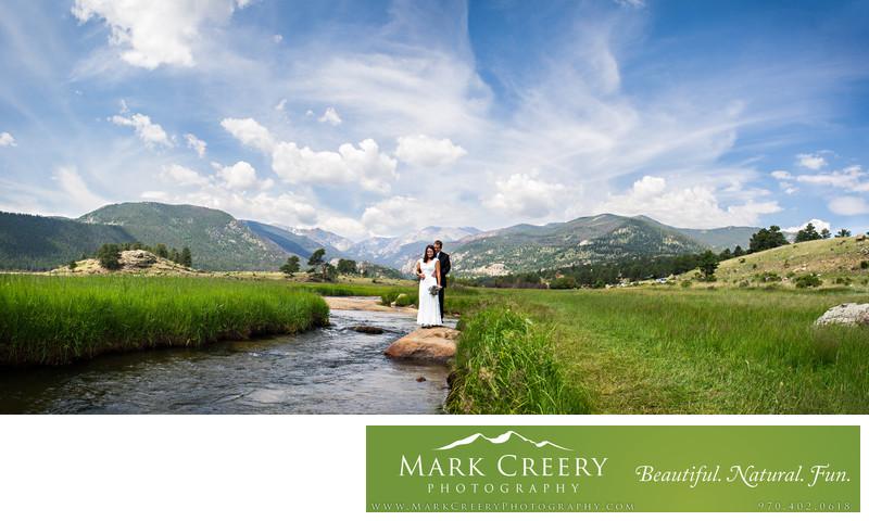 Moraine Park wedding photo panorama