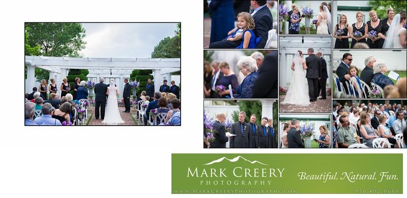 Wedding ceremony at Lionsgate Event Center Gatehouse