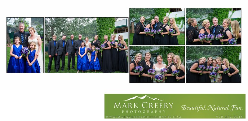 Bridal party portraits at Lionsgate Event Center