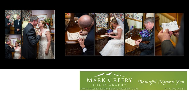 Marriage license signing at Lionsgate Event Center