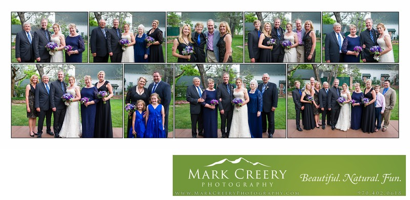 Family formals at Lionsgate Event Center wedding