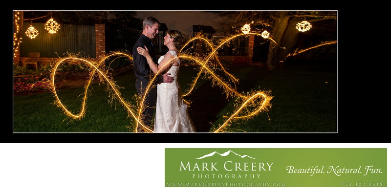Sparkler wedding photo at Lionsgate Event Center Gatehouse