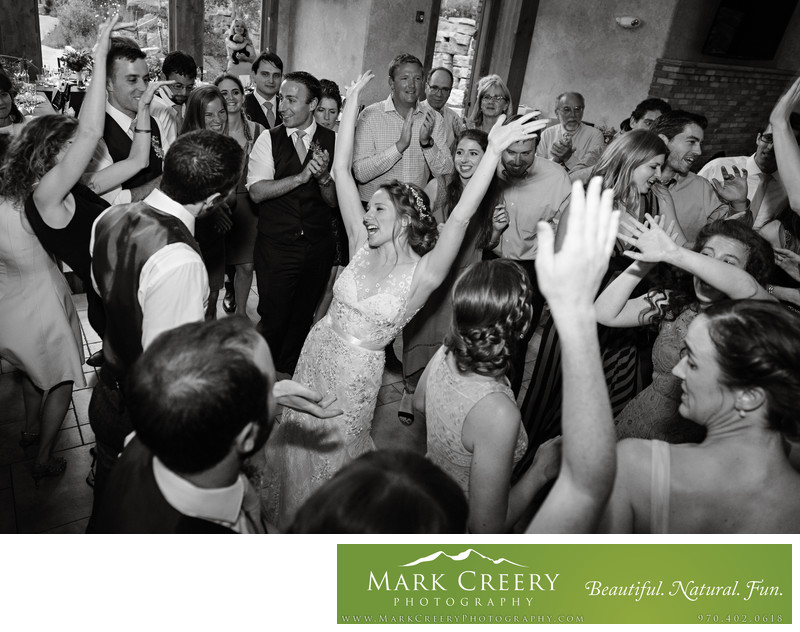 Wedding photography at Cheyenne Mountain Resort reception