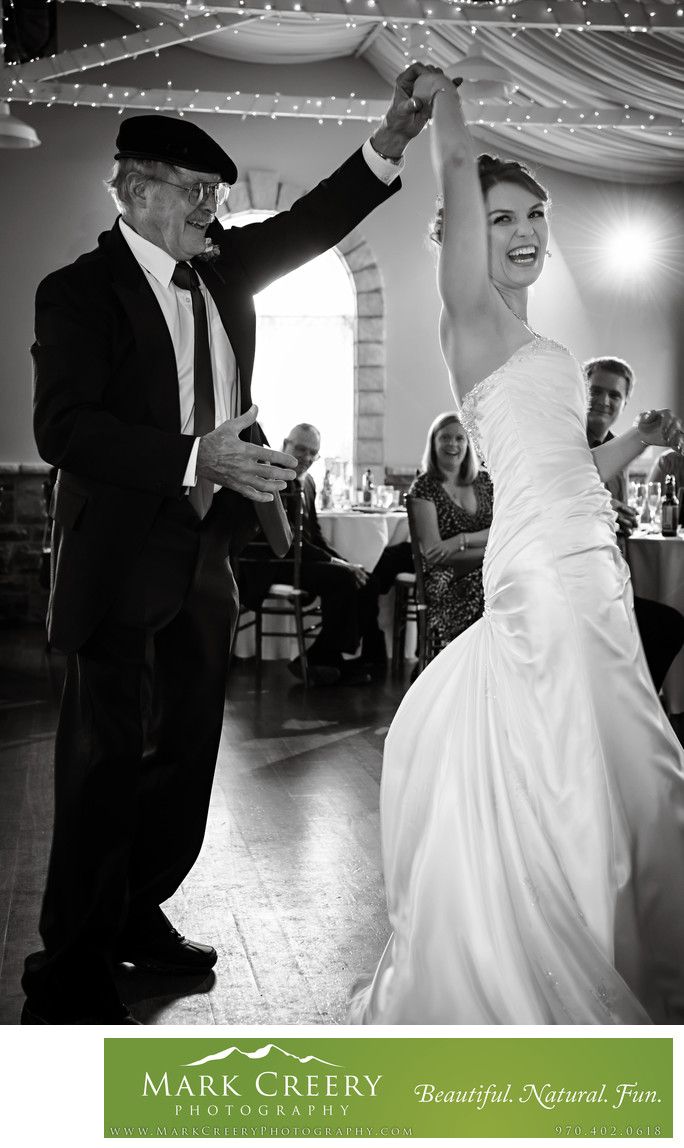Father Daughter dance at Tapestry House wedding reception